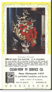 Clear View TV Rewards!  This was a treasure to find in the photo album.