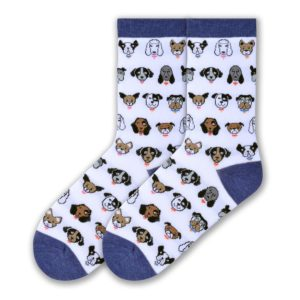 k bell dog profile socks