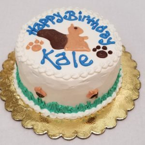 squirrel dog cake