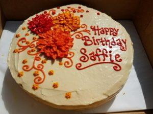 custom dog cake mum chrysanthemum