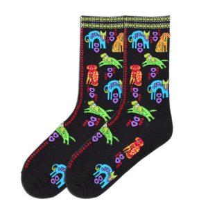 dog portrait socks
