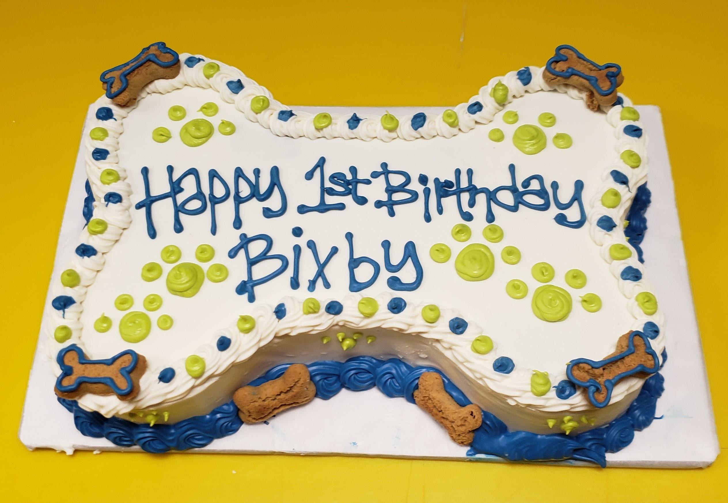 Stupendous Dog Cake 9 Bone Happy Dog Barkery Personalised Birthday Cards Veneteletsinfo
