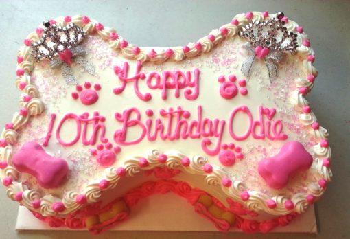 princess dog bone cake
