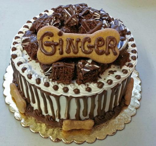 bow wow brownie madness dog cake